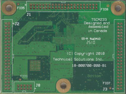 bottom side of a TSCM-233 Medallion Touch Screen Computer Module