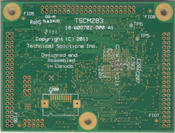 bottom side of a TSCM-283 Medallion Touch Screen Computer Module